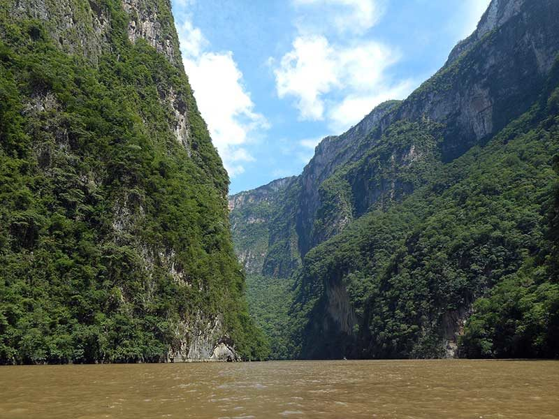 Canyon del Sumidero in Chiapas, Messico