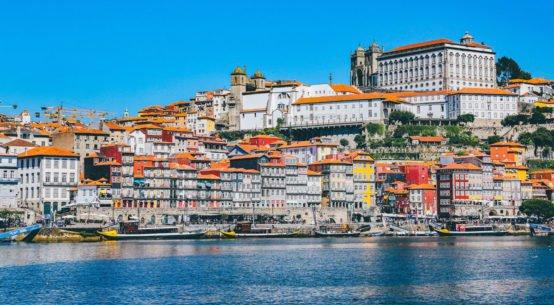 Porto in Portogallo, vista dal mare