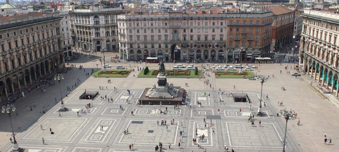 Cosa fare a Milano - vista di Piazza del Duomo