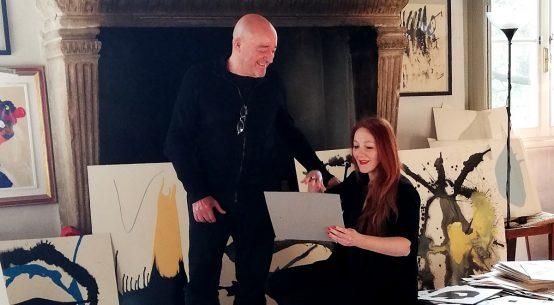 Arte e Coronavirus, l'artista Patrizio Vanessi con la travel blogger Roberta Ferrazzi